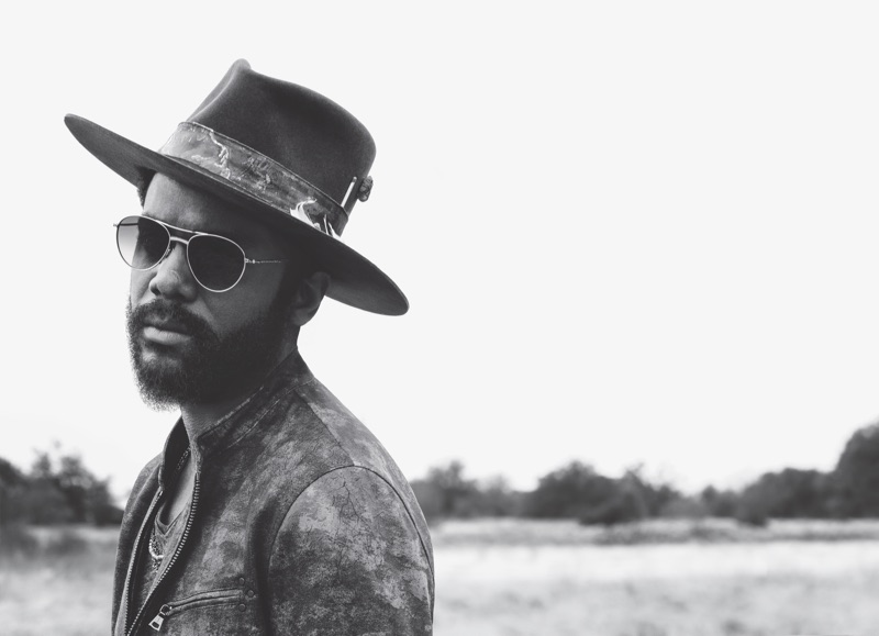 A cool vision, Gary Clark Jr. appears in John Varvatos' spring-summer 2019 campaign.