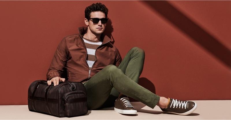 A cool vision in shades, Giacomo Cavalli stars in Liu Jo Uomo's spring-summer 2019 campaign.