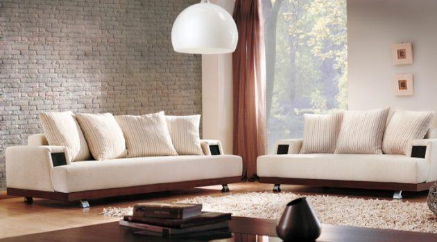 Living Room Modern in White