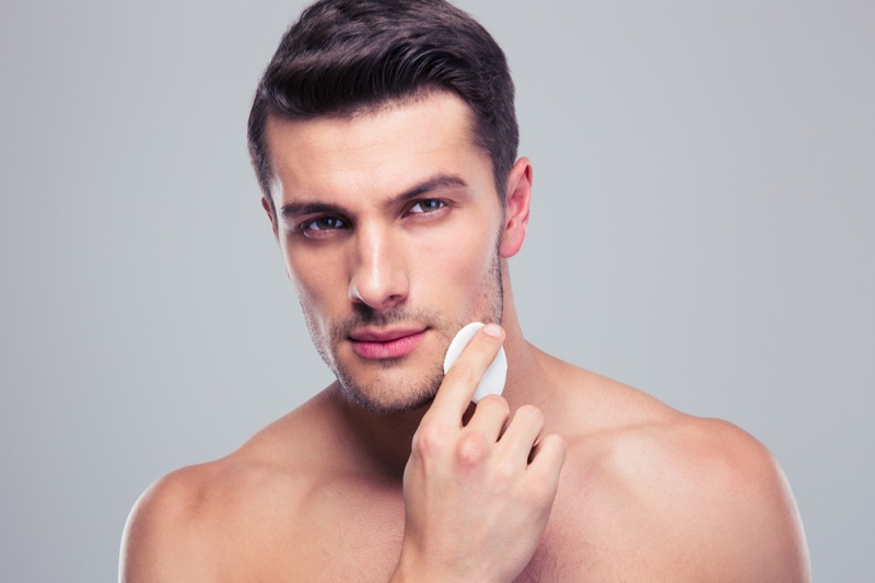 Man Face Grooming and Beauty