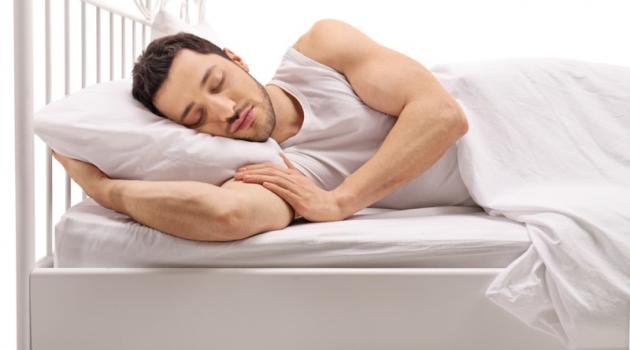 Man Sleeping in Bed Model
