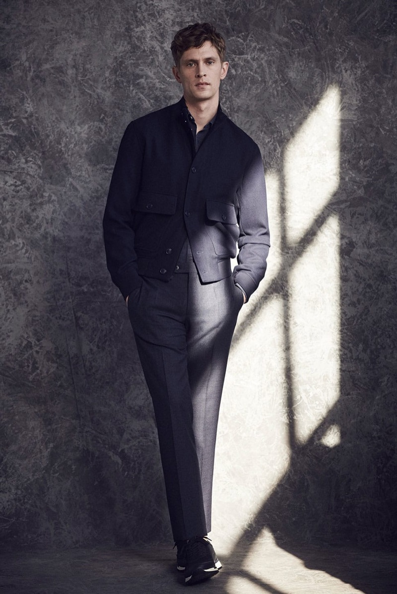 Spanish brand Massimo Dutti connects with Mathias Lauridsen to showcase its latest menswear.