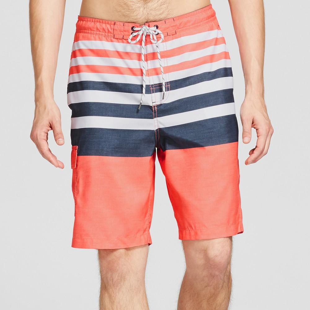0095418023 Men's 9 Board Shorts Stripe – Goodfellow & Co Red L | The Fashionisto
