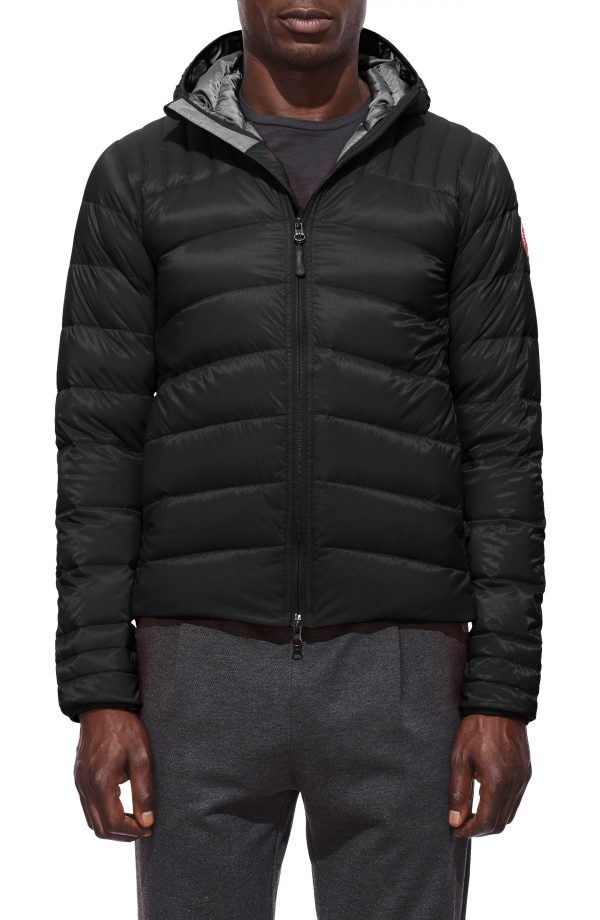Men's Canada Goose Brookvale Slim Fit Hooded Down Jacket, Size X-Small - Black