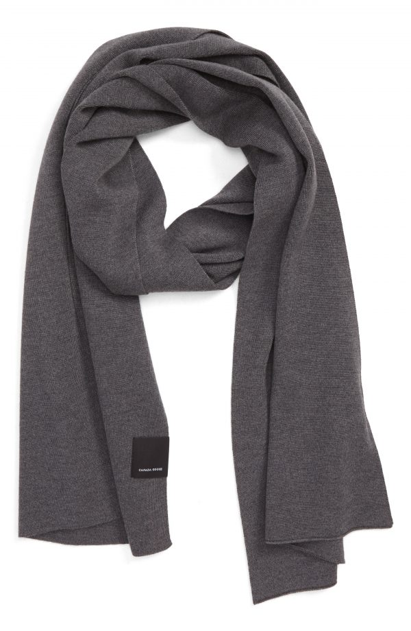 Men's Canada Goose Classic Wool Scarf, Size One Size - Grey