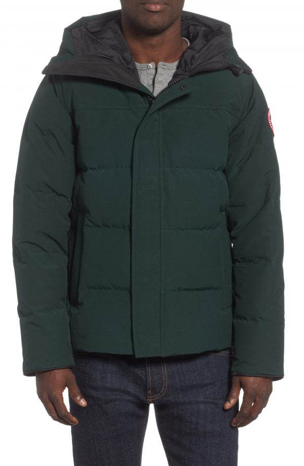 Men's Canada Goose 'Macmillan' Slim Fit Hooded Parka, Size Small - Green