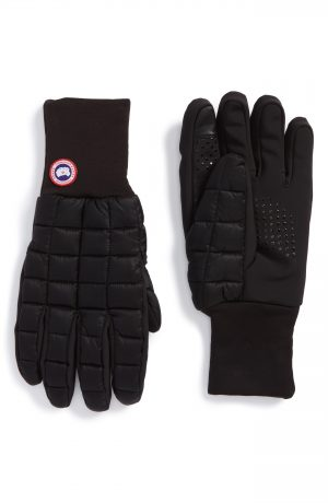 Men's Canada Goose Northern Liner Gloves, Size Small - Black