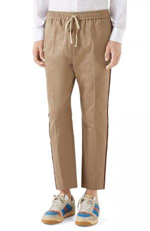 Men's Gucci Cotton Pants, Size 46 EU - Brown