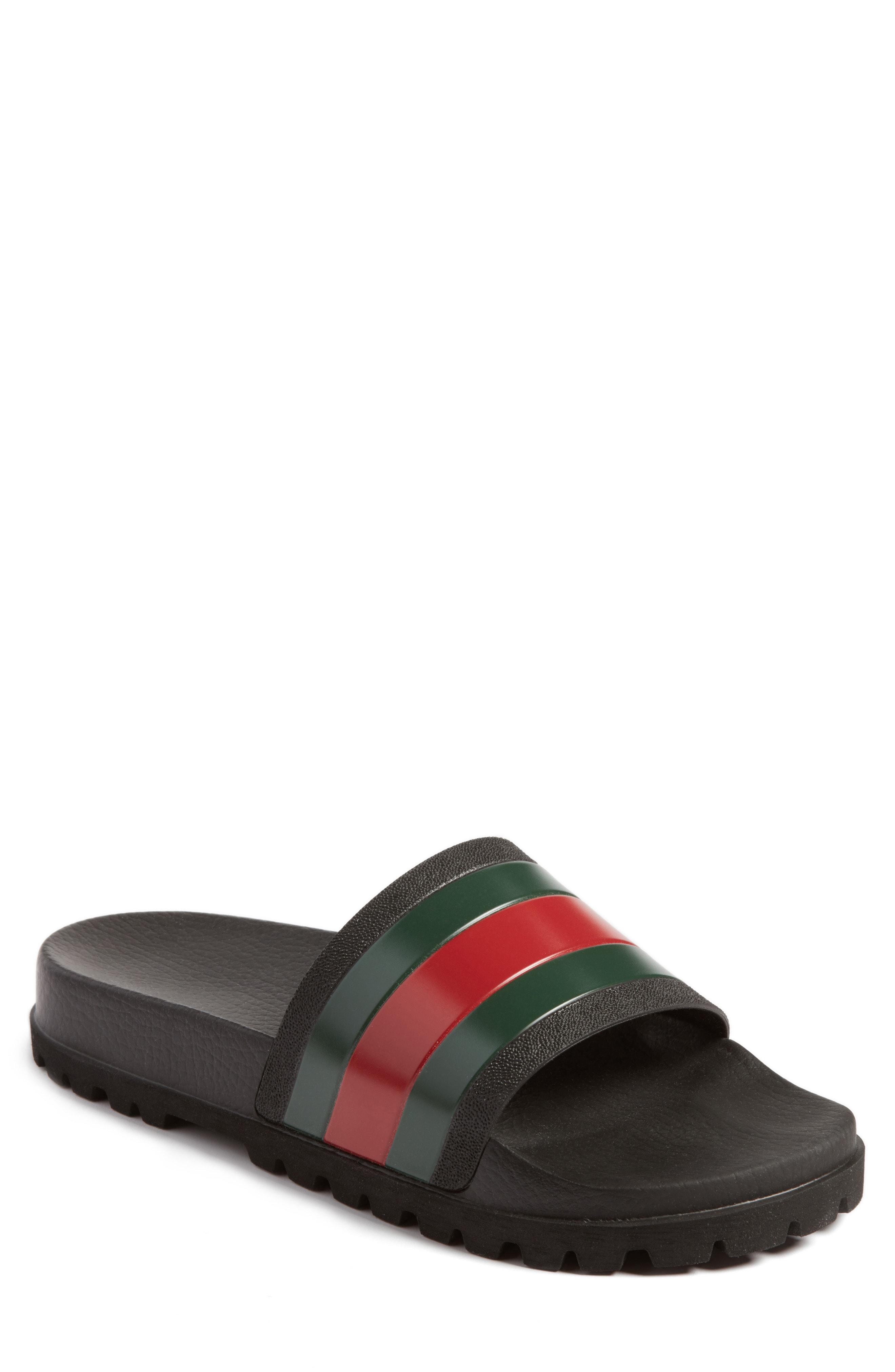 1119c7e35 Men's Gucci 'Pursuit Treck' Slide Sandal, Size 7US / 6UK – Black | The  Fashionisto
