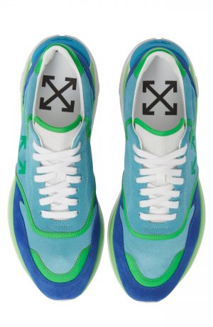 Men's Off-White Jogger Sneaker, Size 39 EU - Blue