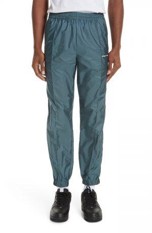 Men's Off-White Nylon Jogger Pants, Size Small - Black
