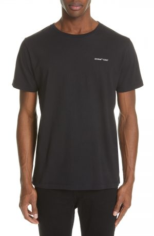 Men's Off-White Slim Fit Logo T-Shirt, Size Small - White
