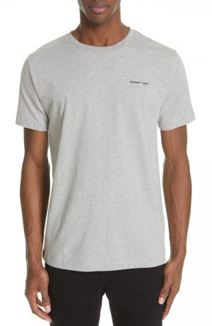 Men's Off-White Slim Fit Logo T-Shirt, Size X-Large - Grey