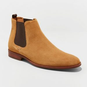 Men's Paxton Suede Chelsea Boots - Goodfellow & Co Tan 10, Brown