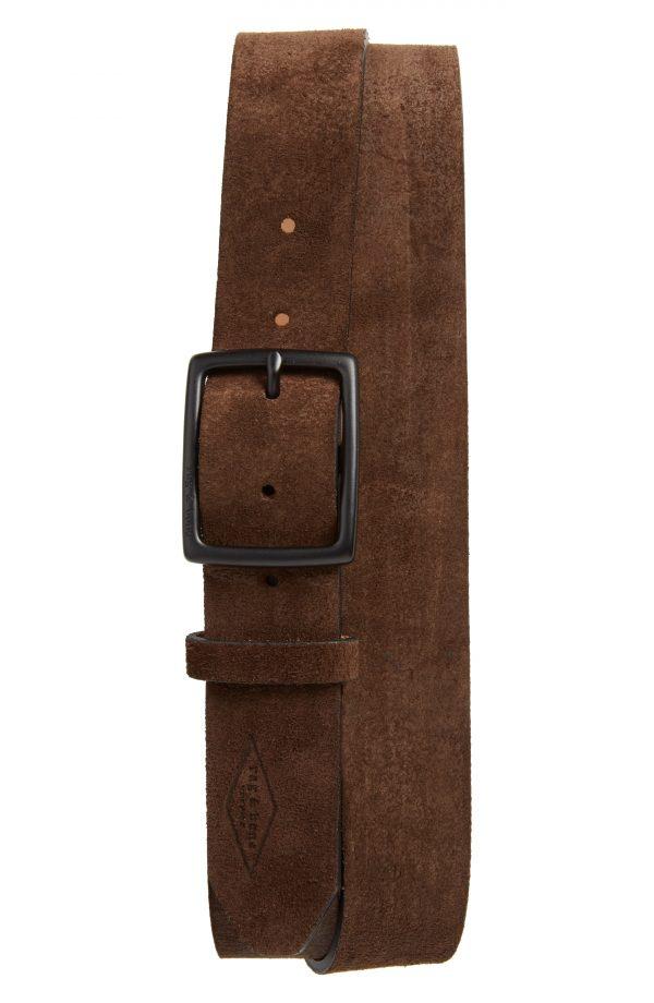 Men's Rag & Bone Rugged Leather Belt, Size 40 - Dark Brown