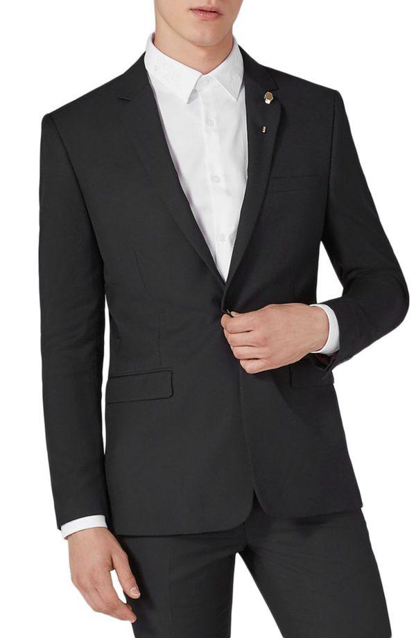 Men's Topman Skinny Fit One-Button Suit Jacket