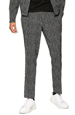 Men's Topman Skinny Fit Trousers, Size 30 x 32 - Black