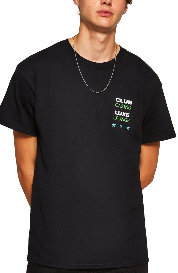 Men's Topman Trinity Print T-Shirt, Size Medium - Black
