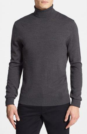 Men's Vince Camuto Merino Wool Turtleneck, Size Large - Grey