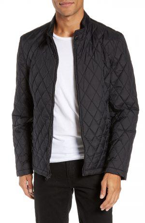 Men's Vince Camuto Quilted Moto Jacket, Size Medium - Black
