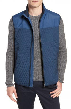 Men's Vince Camuto Slim Fit Quilted Vest, Size Large - Blue
