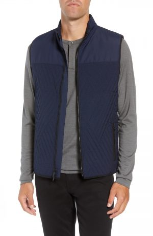Men's Vince Camuto Slim Fit Quilted Vest, Size XX-Large - Blue
