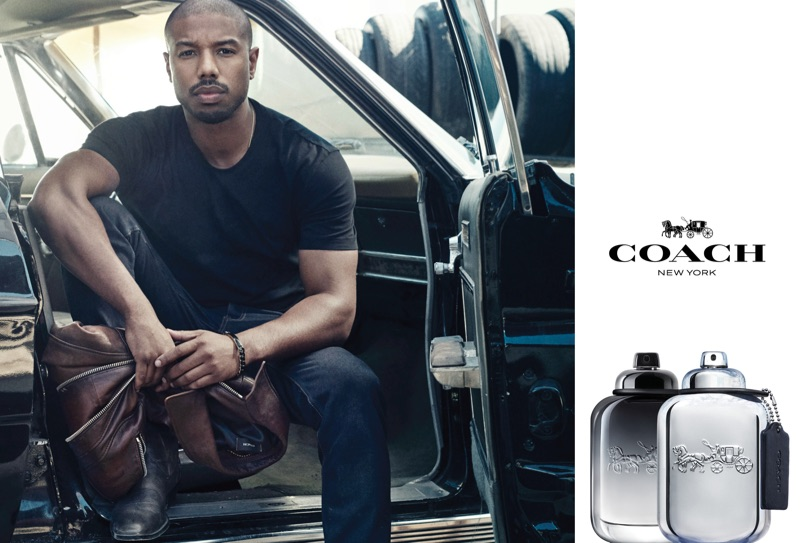 Michael B Jordan stars in a new fragrance campaign for Coach.