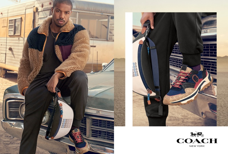 Actor Michael B Jordan fronts Coach's spring-summer 2019 campaign.