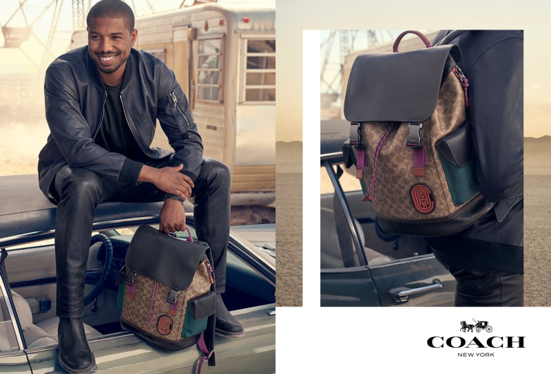 Coach enlists Michael B Jordan as the star of its spring-summer 2019 campaign.