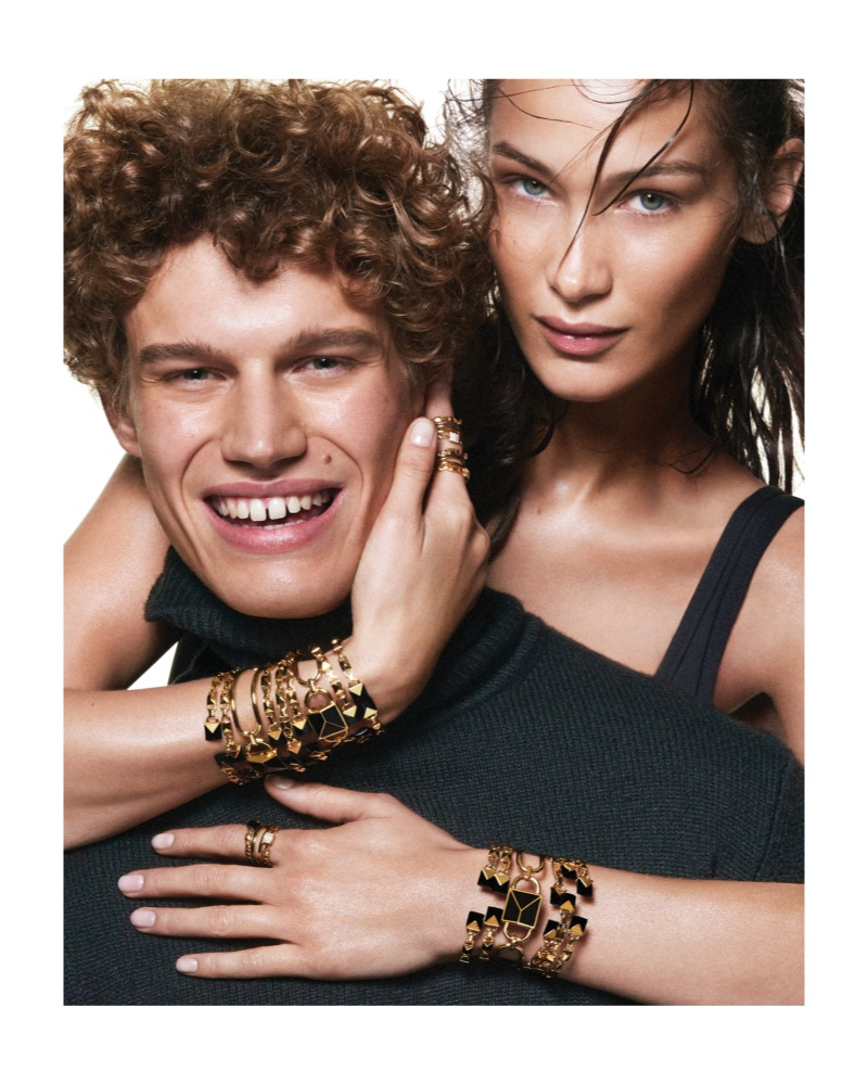 Timo Baumann and Bella Hadid star in the Michael by Michael Kors spring-summer 2019 campaign.