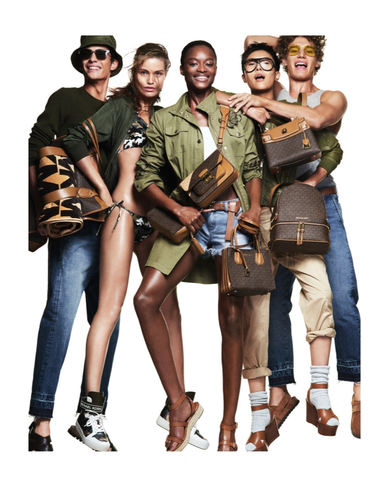 Piero Mendez, Luna Bijl, Mayowa Nicholas, Sohyun Jung, and Timo Baumann front the Michael by Michael Kors spring-summer 2019 campaign.