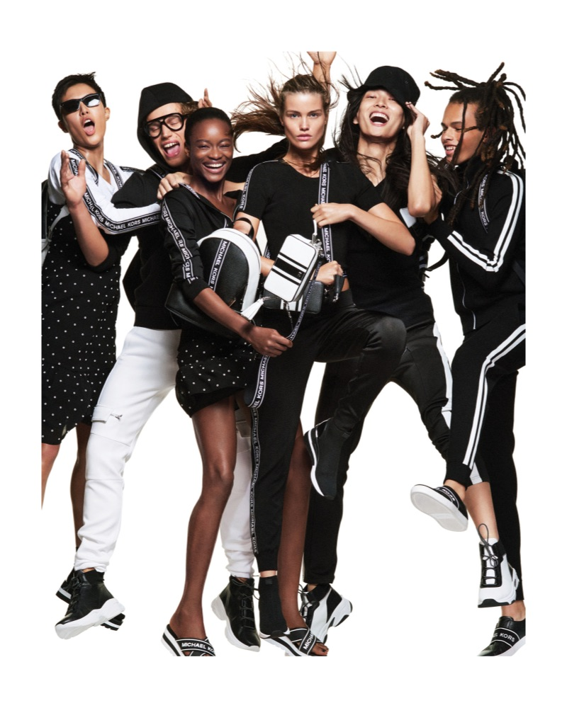 Sohyun Jung, Timo Baumann, Mayowa Nicholas, Luna Bijl, Zhengyang Zhang, and Don Lee star in the Michael by Michael Kors spring-summer 2019 campaign.