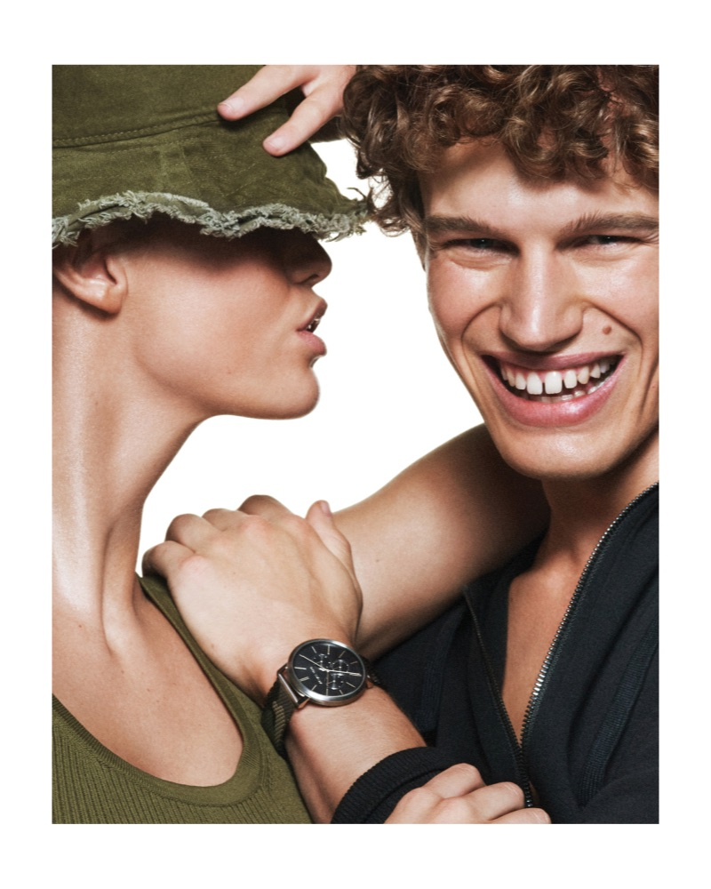 All smiles, Timo Baumann stars in the Michael by Michael Kors spring-summer 2019 campaign.