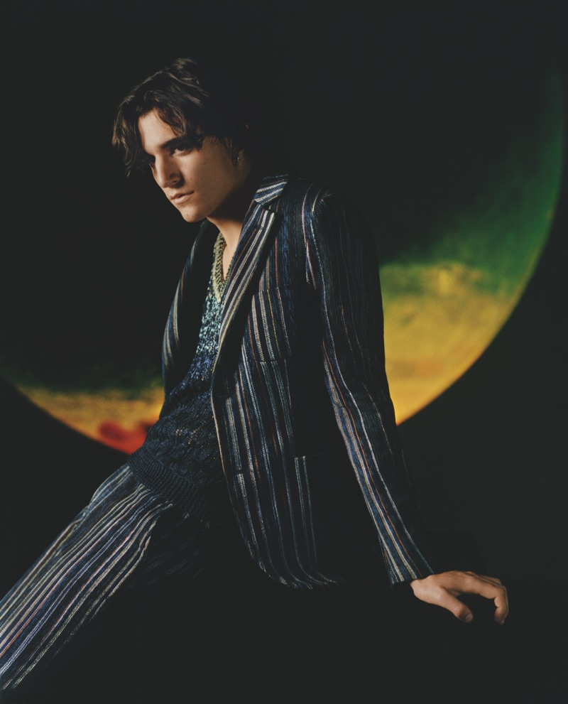 Tamino-Amir Moharam Fouad fronts Missoni's spring-summer 2019 men's campaign.