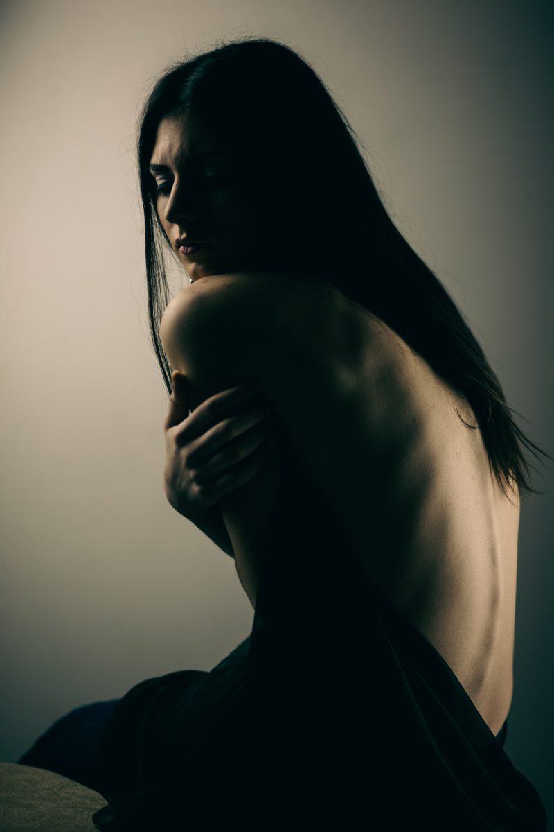 Model Dark Portrait