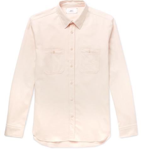 Mr P. - Cotton-Flannel Shirt - Men - Ecru