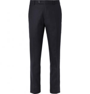 Mr P. - Navy Worsted Wool Suit Trousers - Men - Navy