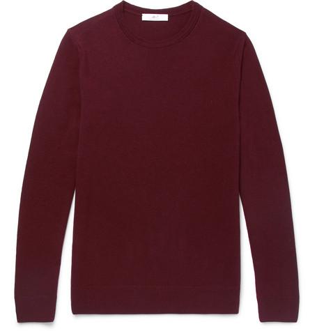 Mr P. - Slim-Fit Merino Wool Sweater - Men - Plum