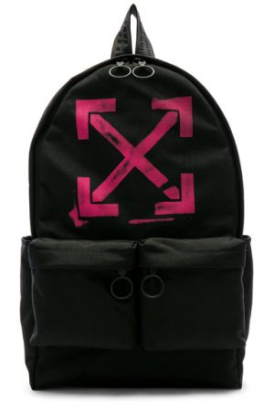 OFF-WHITE Arrows Backpack in Black.