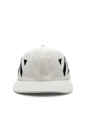 OFF-WHITE Diagonal Baseball Cap in White.