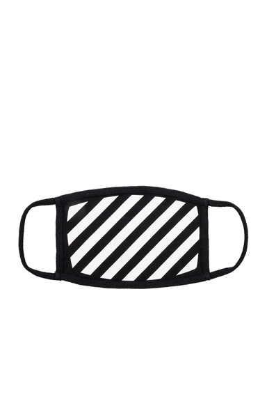 OFF-WHITE Diagonal Mask in Black,Stripes.