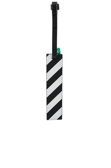 OFF-WHITE Diagonal Travel Tag in Black,Stripes.