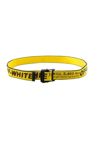 OFF-WHITE Industrial Belt in Yellow.