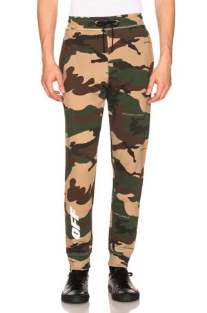 OFF-WHITE Off Sweatpants in Abstract,Green,Neutrals. - size M (also in S,XL)
