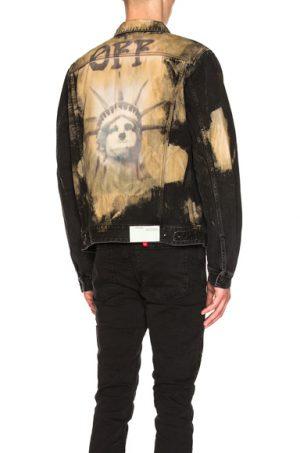 OFF-WHITE Slim Jacket in Black,Neutrals,Ombre & Tie Dye. - size L (also in S)
