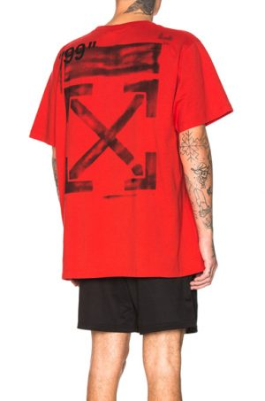 OFF-WHITE Stencil Tee in Red. - size S (also in L,M,XL)
