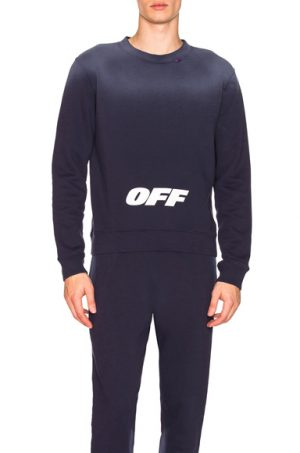 OFF-WHITE Wing Off Crewneck in Blue. - size S (also in L,XS)
