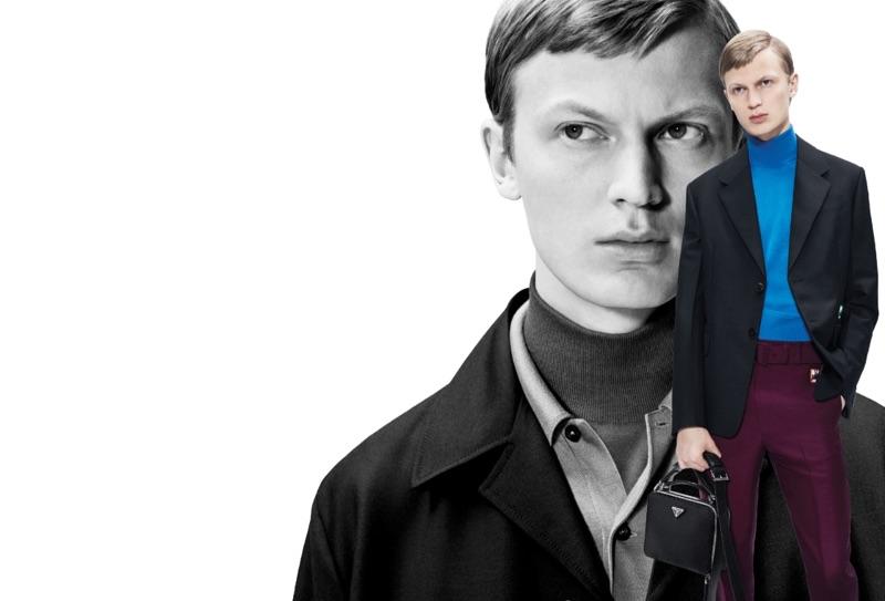 Jonas Glöer fronts Prada's 365 spring-summer 2019 campaign.