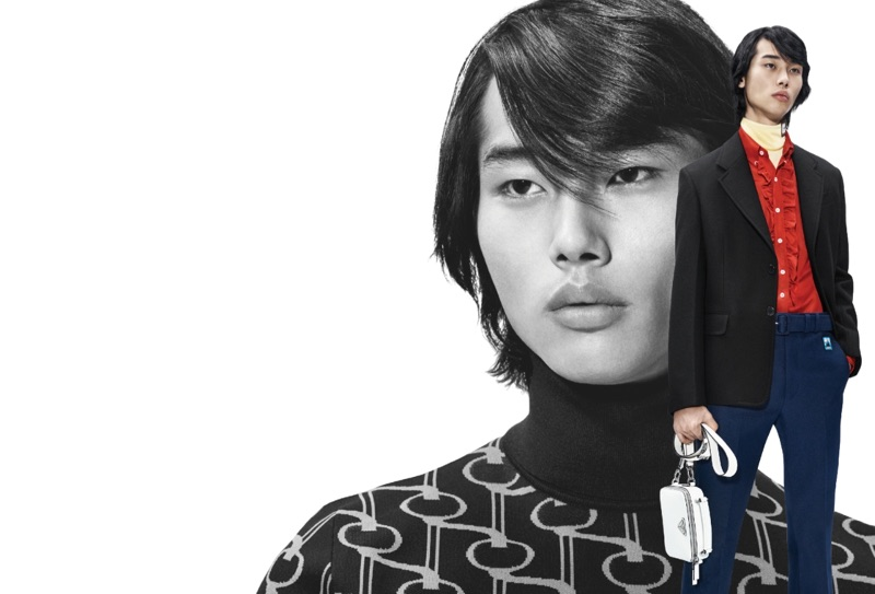 Tae Min Park stars in Prada's 365 spring-summer 2019 campaign.