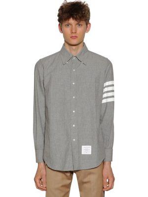 Printed Straight Chambray Cotton Shirt